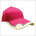 H Type - Cotton Brush 6 Panel Golf Caps C/W Magnetic Ball Marker